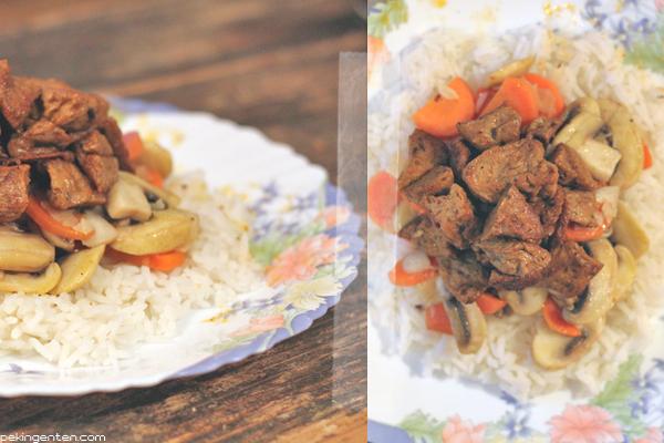 vegetarisches gulasch mit seitan